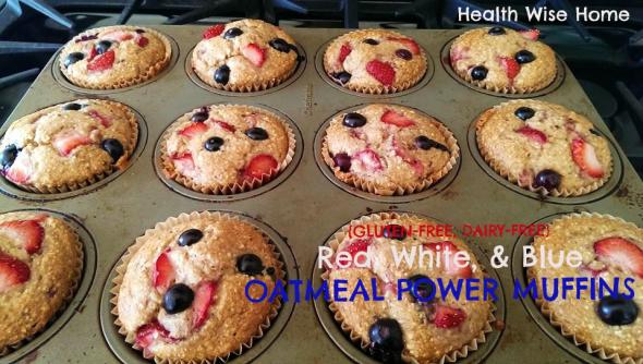 rwb oatmeal power muffins