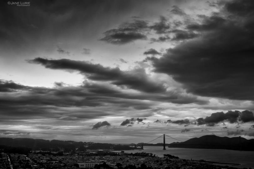 San Francisco, Nikon, Black and white, Landscape, golden gate bridge