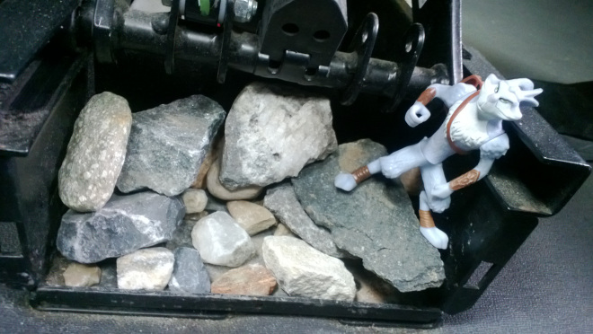 Toy on Rock