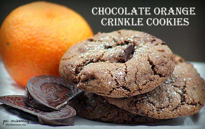 Chocolate Orange Crinkle Cookies 1